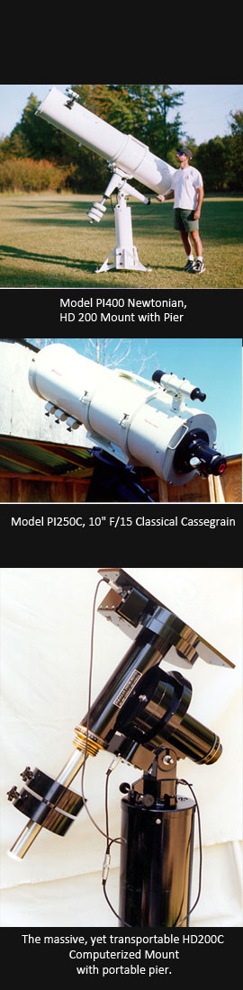Parallax Instruments, Inc. - Procucts (side) Telescopes and Rotating Rings